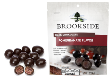 Brookside dark chocolate and pomegranate candy