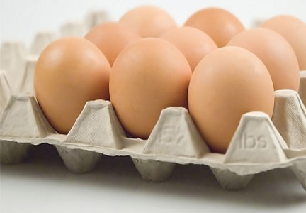 Carton of brown, cage-free eggs