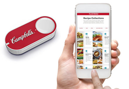 Campbell Soup Amazon Dash button and recipe web site