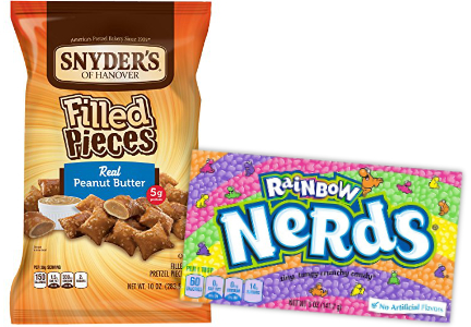 Candy and pretzels