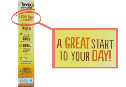 Cheerios Protein label