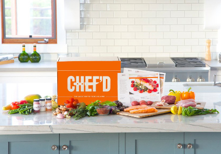 Chef'd meal kit box