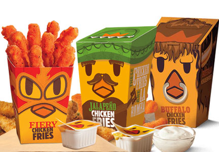 Burger King Chicken Fries flavors - Fiery, Jalapeno, Buffalo