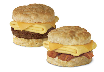 Breakfast sandwiches featuring eggs from Chick-fil-A