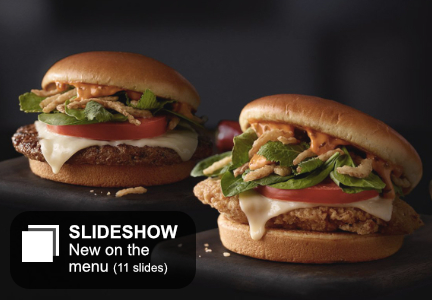 McDonald's Signature Sriracha Burger and Signature Sriracha Chicken Sandwich