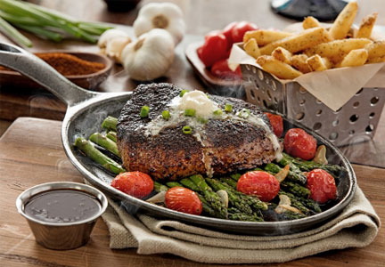 Chili's sizzling steak