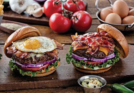 Chili's Sunrise Burger and Ultimate Bacon Burger, Brinker
