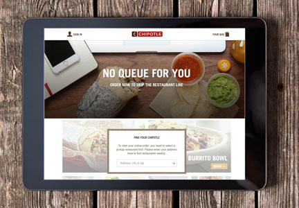 Chipotle on-line ordering