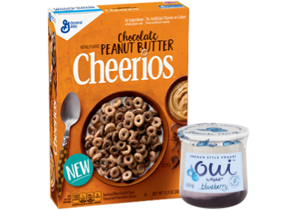 Chocolate Peanut Butter Cheerios and Oui by Yoplait, General Mills