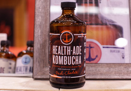 Health-Ade mushroom and chocolate kombucha