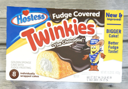 Hostess Fudge-Covered Twinkies, Chocodiles, New & Improved