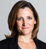 Chrystia Freeland, Canadian foreign minister