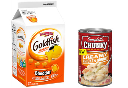 Chunky soup, Goldfish crackers