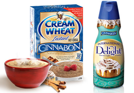 Cinnabon coffee creamer and cream of wheat