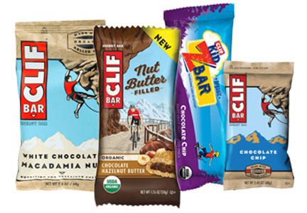 Clif Bar products - Clif Bar, Clif Minis, Clif Kids ZBars, Clif Nut Butter Filled Bars
