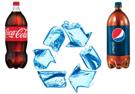 Coca-Cola and PepsiCo conserving water