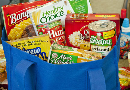 ConAgra products in shopping bag