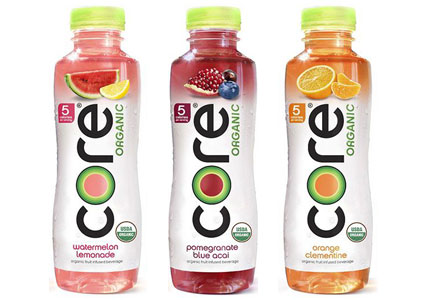 Core organic beverages, clean label