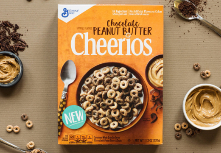 Chocolate peanut butter Cheerios, General Mills