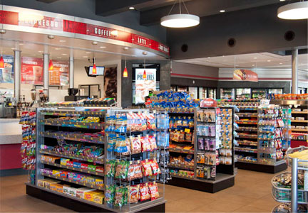Convenience store, food service