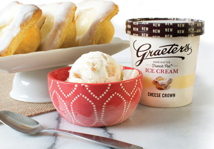 Graeter's cheese crown ice cream