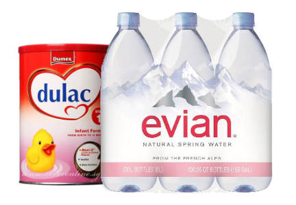Danone water and early life nutrition products