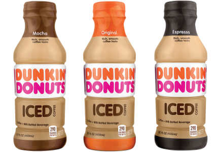 Dunkin' Donuts iced R-T-E- coffee