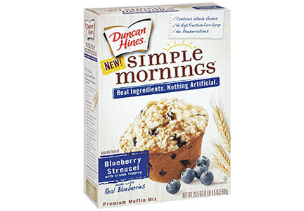 Duncan Hines Simple Mornings Blueberry Streusel Premium Muffin Mix