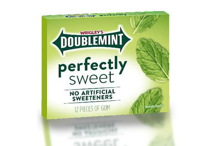 Clean label Wrigley Doublemint Perfectly Sweet gum