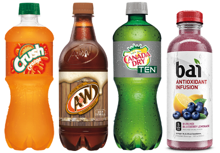 Dr Pepper Snapple brands - Crush, A&W Rootbeer, Canada Dry, Bai