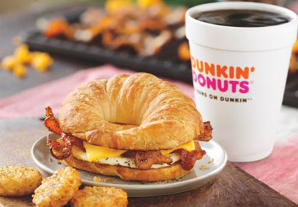 Dunkin' Donuts Sweet Black Pepper Bacon Sandwich, Breakfast