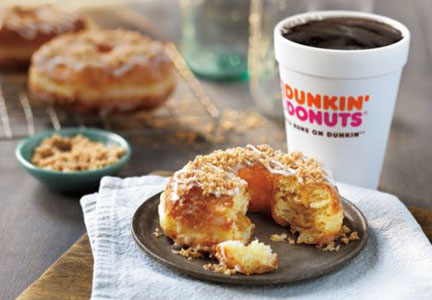 Dunkin' Donuts snickerdoodle filled croissant