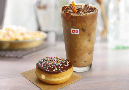 Dunkin' Donuts coffee and donut