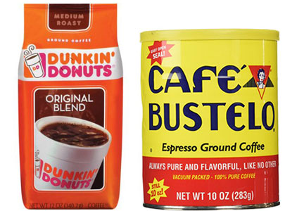 Dunkin' Donuts coffee and Cafe Bustelo coffee, Smucker