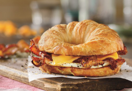 Dunkin' Donuts bacon, egg and cheese croissant
