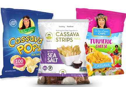 Snacks made with cassava