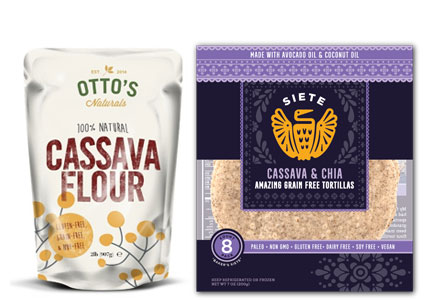 Products featuring cassava