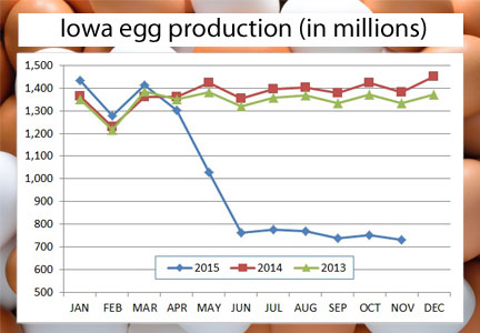 Chart - Iowa egg production (in millions)