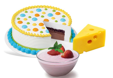 Lipases - enzymes used in cheese, yogurt fermentation and cakes.