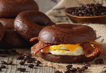 Einstein Bros. Bagels Espresso Buzz bagel