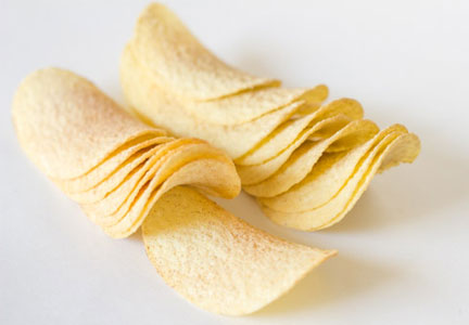 Fabricated potato chips