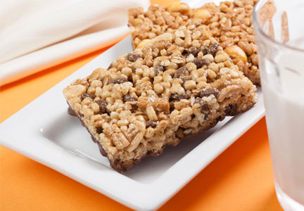 Chicory root fiber granola bars