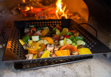 Fire-roasted vegetables