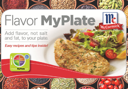 McCormick Flavor My Plate - Salt reduction, sugar reduction