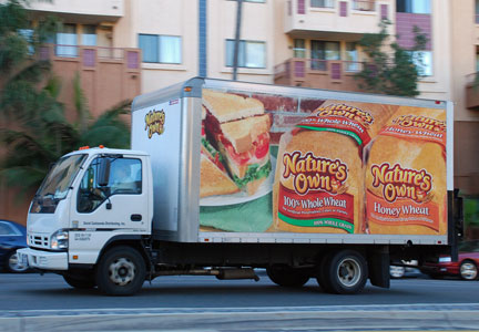 Flowers Foods Nature's Own truck