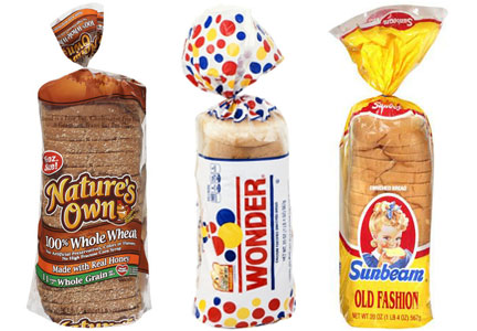 Flowers Foods bread brands - Nature's Own, Wonder, Sunbeam