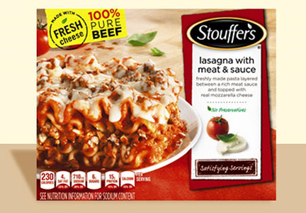 Nestle Stouffer's frozen lasagna