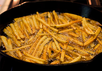 French fries frying