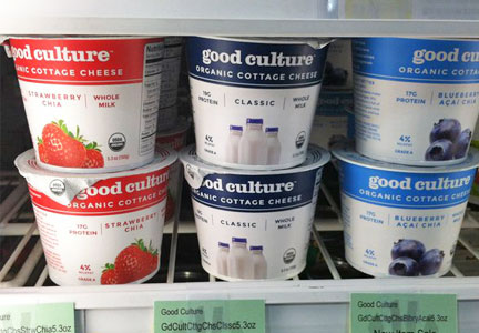 Good Culture cottage cheese on shelves