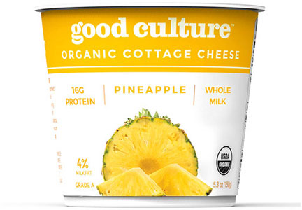 Good Culture pineapple cottage cheese